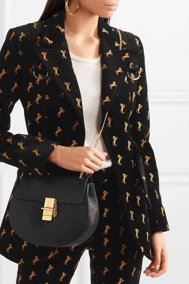 chloe marcie saddle bag - Chlo�� | Drew medium textured-leather shoulder bag | NET-A-PORTER.COM