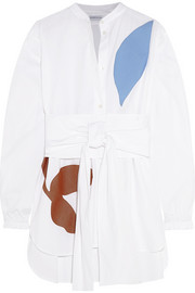 Jonathan Saunders Alex appliquéd cotton-poplin shirt