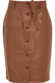Edith leather skirt