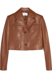 Iris cropped leather jacket