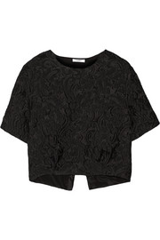 Helen cropped jacquard top