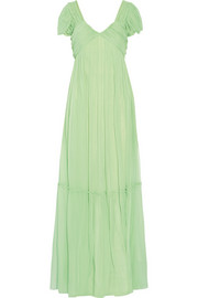Tiered silk-georgette gown