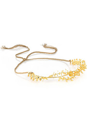 Jennifer Behr Frieda 22-karat gold headband