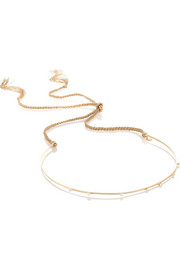 Jennifer Behr Maya 14-karat gold diamond headband