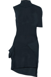 J.W.Anderson Asymmetric ribbed-knit mini dress