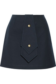 Bonded cotton-twill mini skirt
