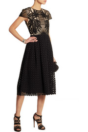Shirley guipure lace and broderie anglaise dress
