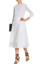 Mina broderie anglaise cotton skirt