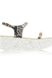 Stella McCartney Snake-effect faux leather platform sandals