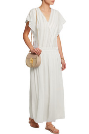 Cumbia silk-georgette maxi dress