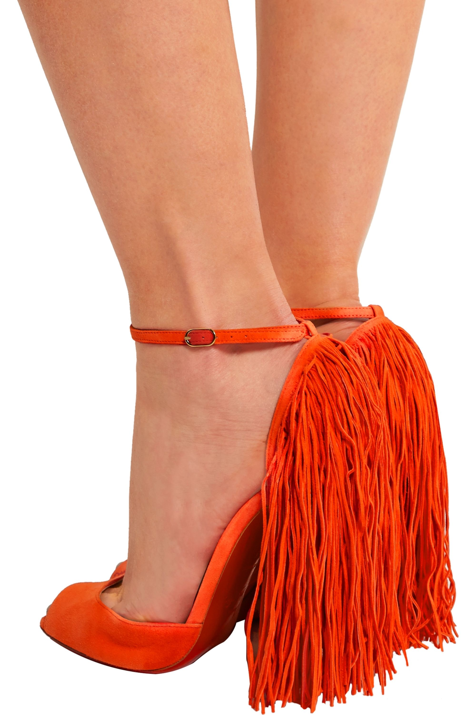 Christian Louboutin Otrot 120 fringed suede sandals