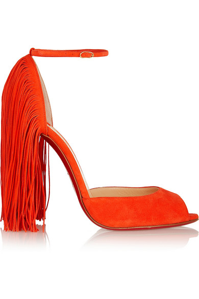 louboutin suede sandals