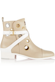 Christian Louboutin + Jonathan Saunders Scubabootie 25 embellished leather ankle boots