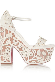 Christian Louboutin Houghton 160 patent-leather and suede platform sandals