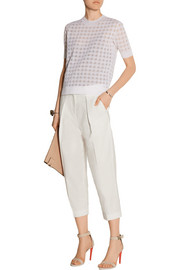 Saville cropped cotton-blend pants