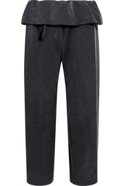 Adele cropped brushed-silk straight-leg pants