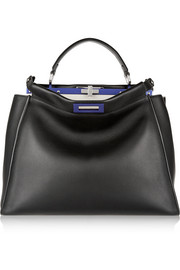 Peekaboo large leather tote