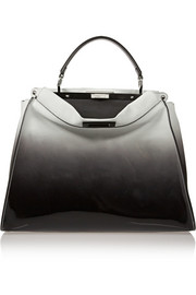 Fendi Peekaboo large dégradé suede and patent-leather tote