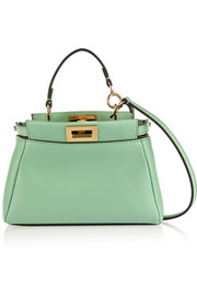 Peekaboo micro leather shoulder bag