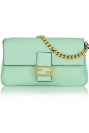 Baguette micro leather shoulder bag