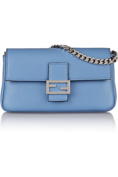 Fendi Baguette Micro Leather Shoulder Bag