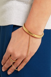 Carly gold-tone finger bracelet