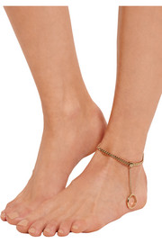 Carly gold-tone anklet