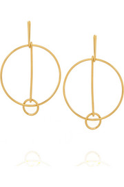Cate gold-tone hoop earrings