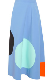 Roksanda Ilincic Paneled stretch-crepe midi skirt