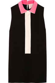 Roksanda Lansdale twill and cady-paneled crepe top