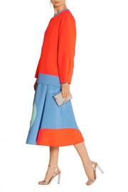 Roksanda Ilincic Color-block stretch-crepe sweatshirt