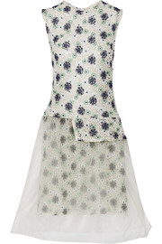 Lucy floral-lace and organza dress