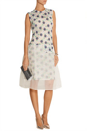 Michael van der Ham Lucy floral-lace and organza dress