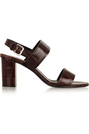 Jil Sander Croc-effect leather sandals