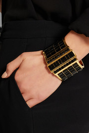 Gold-plated Swarovski crystal cuff