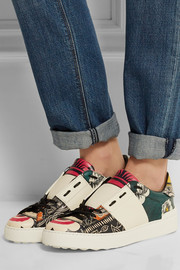 Valentino Printed leather sneakers