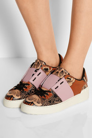 Valentino Covered printed leather sneakers