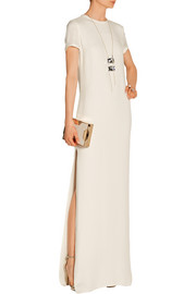 Double-faced crepe gown