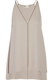 Lanvin Chain-embellished crepe top