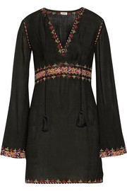 Talitha Embroidered cotton-voile mini dress