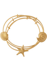 Set of three gold-tone bangles