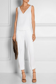 Maiyet Double-faced draped crepe de chine top