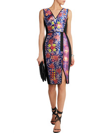 Peter Pilotto Bernicia embellished jacquard and faille dress