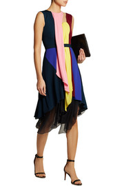 Peter Pilotto Haze draped jersey and silk-chiffon dress