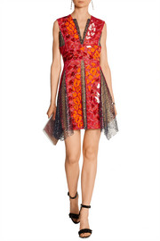 Peter Pilotto Phoenicia embellished guipure lace mini dress