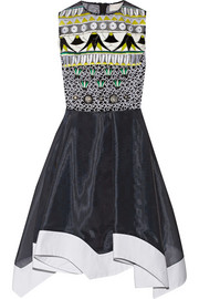 Tessera embellished embroidered organza dress
