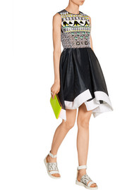 Peter Pilotto Tessera embellished embroidered organza dress