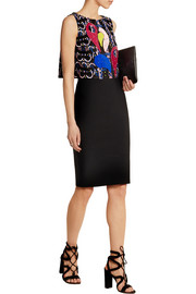 Peter Pilotto Astro embellished embroidered silk-organza top