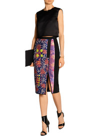 Peter Pilotto Bernicia embellished jacquard and crepe skirt