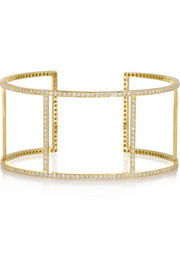 Wire 18-karat gold diamond cuff
